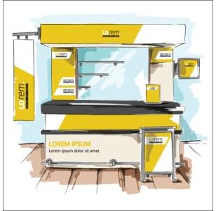 trade show booth design diagram