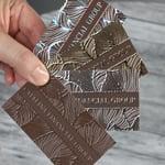 brown foil majestic business cards 4over blog